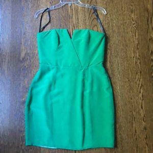 Green Naven Strapless mini dress